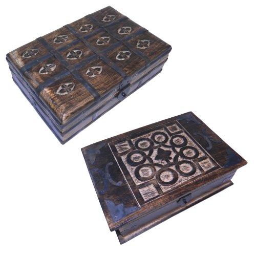 Set-dos-joyeros-caja-madera-y-cofre-del-tesoro-cofre-pirata-madera-tallas-aspecto-antiguo