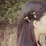 Bridalvenus Hair Clips Leaf Hair Pins Fashion Claw - Wedding Headpieces for Women and Girls on Party, Casual (2 Pieces)