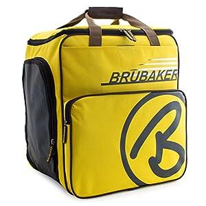 BRUBAKER Skischuhtasche Helmtasche Skischuhrucksack Super Champion Gelb Sand – Limited Edition –