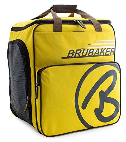BRUBAKER Super Champion borsa per scarponi da sci con scomparto casco colore giallo / sabbia