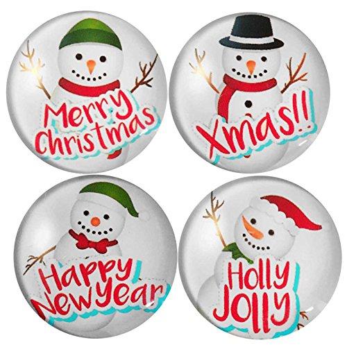 Jiayiqi 4er Pack Weihnachten Schneemann Kühlschrank Magnete Magnete Kalender Büromagnete