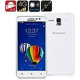 Lenovo A8 / A806 4G Libres Smartphone 5.0 inch 2GB+16GB 13MP Android 4.4 MTK6592/MTK6290 Octa Core 1.7GHz, FDD-LTE/WCDMA/GSM, Blanco