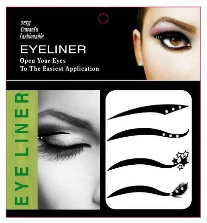 set-of-4-pairs-black-color-eyes-winged-bridal-tear-proof-makeup-eyeliner-temporary-tattoo-dance-masq