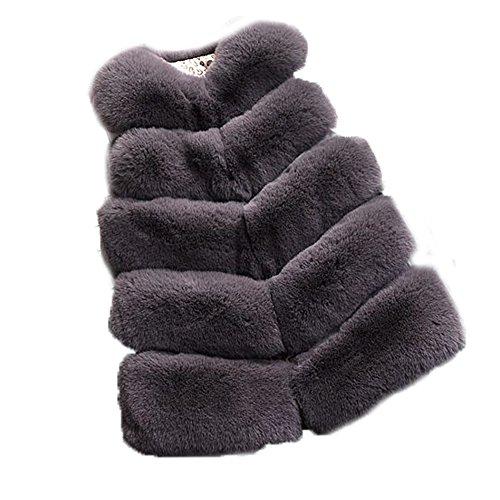 Boys Insulated Hooded Jacket (FOLOBE Kinder Herbst und Winter Faux Fell Vests Kids New Pelz Imitation Fox Haar Gilets Mäntel für Mädchen und jungen)