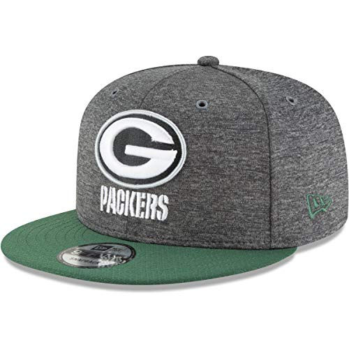 New Era Green Bay Packers 9fifty Snapback NFL 2018 Sideline Home Graphite Graphite - M - L -