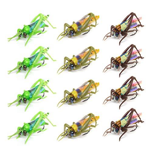 Realistische Heuschrecke Fliegenfischen Set 3 Größen 3 Farben*
