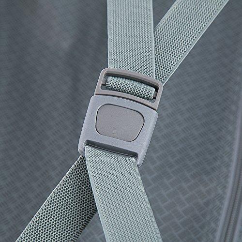 WOLTU RK4204sz-M-a Reisekoffer Koffer Trolley Hartschale mit erweiterbaren Volumen , 4 Rollen leicht Hartschale mit erweiterbaren Volumennkoffer Handgepäck , Schwarz M (56 cm & 42 Liter) - 8