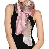 MEISHINE® 180*110cm Damen Elegant Seidenschal – Frauen Pashmina aus 100% Reiner Seide (Style 1)