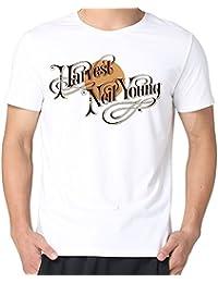 Yrewer Men'S Neil Young Harvest Vinyl Album Cover T-Shirts 100% Cotton