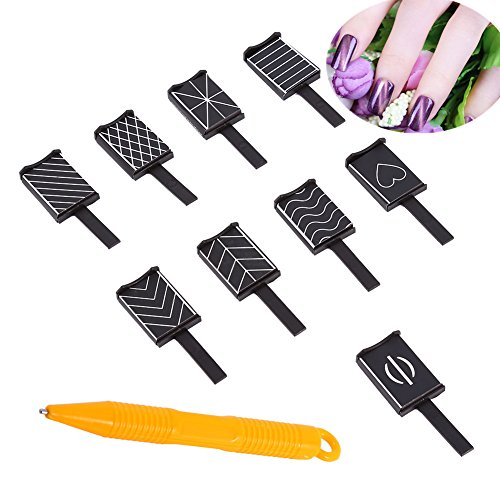 10 Pcs/Set 9 Stile Katze Augen 3D Magnet Stick für Nagellack Gel Magische Nagel Werkzeug