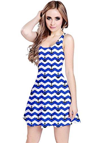 CowCow Damen Kleid Blau Navy Blau - Königsblau