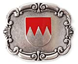 Unbekannt Gürtelschliesse, Gürtelschnalle mit fränkischen Landeswappen für die Tracht! Wechselschnalle, Farbe silber
