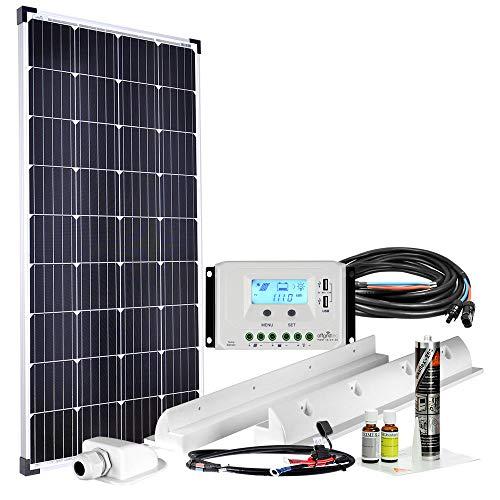 Offgridtec Premium-XL 150W 12V Wohnmobil Solaranlage 007500 mit 30A Laderegler und LCD Display -