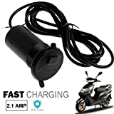 #4: Romeo Universal Bike Round USB Waterproof Mobile Charger for Honda Activa, TVS Jupiter, Aprilia, Suzuki Access, Honda Grazia, TVS NTORQ, Yamaha YZF R15, Royal Enfield Classic, Honda CB Shine, Bajaj Pulsar 220, Suzuki Intruder, Bajaj Dominar, Yamaha FZ S, TVS Apache, Honda CB Hornet, Hi-speed Bike/Scooty Mobile charger usb socket fast charging for all smartphones and tablets Apple iPhone, Samsung , Motorola, Lenovo, Honor, OnePlus, Xiaomi, LeTV, HTC, LG, Pixel & all other mobile devices, Tablets