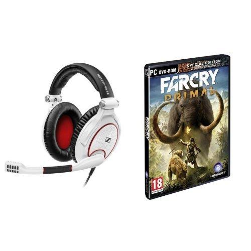 Sennheiser GAME ZERO, Cuffia Gaming Chiusa con Blocco Rumore, Bianco + Far Cry Primal - Special Edition - PC