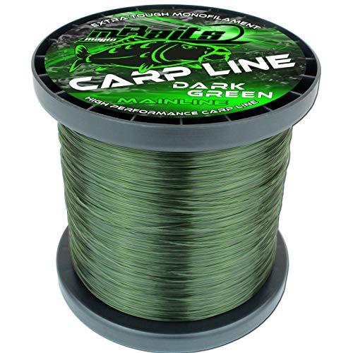 Angel-Berger Magic Baits Carp Line Dark Green Mainline Angelschnur Monofile Schnur (1000m, 0,30mm)