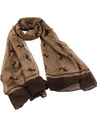 HUHU833 Écharpe foulard châle Femmes mode impression wapiti longue écharpe  châle ... 8cd53636dcb