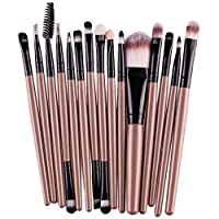 Walaha Makeup Brush Eye Brushes Sets Make Up Eyeshadow Professional Face Foundation Powder Girl Concealers Eyeliner Revolution Shadows Eyebrow Brush Cosmetic 15PCS (B)