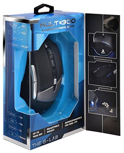 The G-Lab KULT300 - Ratón Gaming retroiluminado (4000 dpi con Software + Pesos Extras)