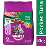 Whiskas Adult Dry Cat Food, Tuna flavour – 3 kg Pack