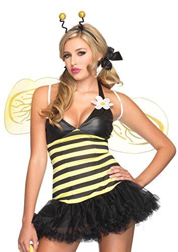 LEG AVENUE 83343 - Bienen Kostüm 4-teilig, Größe: S/M (EUR 36-38)