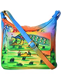 LEATHER MADE Women's Sling Bag (Multi-Coloured, MM0320.02)
