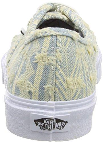 Vans Authentic Slim Scarpe da Ginnastica Basse, Unisex Adulto Avorio/Azzurro (frayed Native/true White)