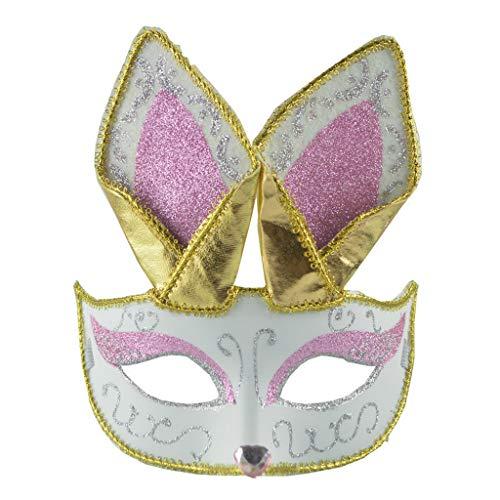 Tensay Maskerade Maske Frauen Sexy Schwarz Glitter Phantasie Niedlichen Tier Spitze Augenmaske Halloween Kostüm Party Geheimnisvolle Maske Dekoration - Niedlichen Tier Kostüm Frauen