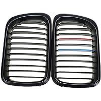Plat Firm Matte Black + M Color Rejillas Delanteras Para BMW 97-99 323i 323is M3 328i