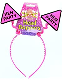 "Hen Night Hot Pink ""Hen Party"" Head Bopper Headband Hen Party Accessory"