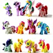Generic My Little Pony Rainbow Dash Pony Christmas Gift for Kids Cake Toppers 12 PCS