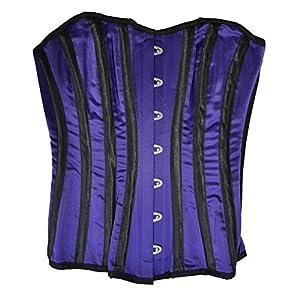 "El celibato 53099700.000XS - ramillete Burlesque àÅ""berbrust con rayas verticales decorativas - púrpura/negro - Gr. XS"