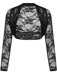 Ladies Womens Cropped Bolero Lace Shrug Plus Size UK 8 - 24