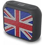 Muse M de 312UK Portable haut-parleur Bluetooth avec mains libres, compatible avec la Football EM (sans fil, diffuser Apple iPhone/Tablette, USB, AUX-IN, 2W RMS) Blanc/Noir