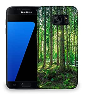 Snoogg Tall Tress With No Leaves Designer Protective Phone Back Case Cover For Samsung Galaxy S7