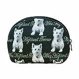 Kosmetik/Schminktasche (Westie Terrier) im Gobelin Stil