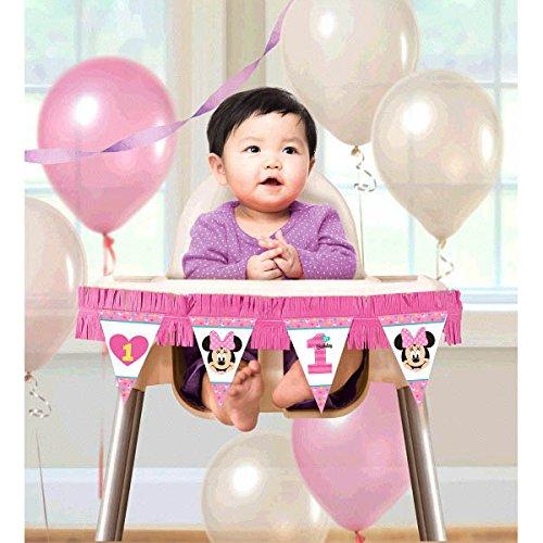 Minnie Mouse Fun zu einem hohen Stuhl Dekoration Kit (2 Stück) (Rosa Minnie Maus Ohren)