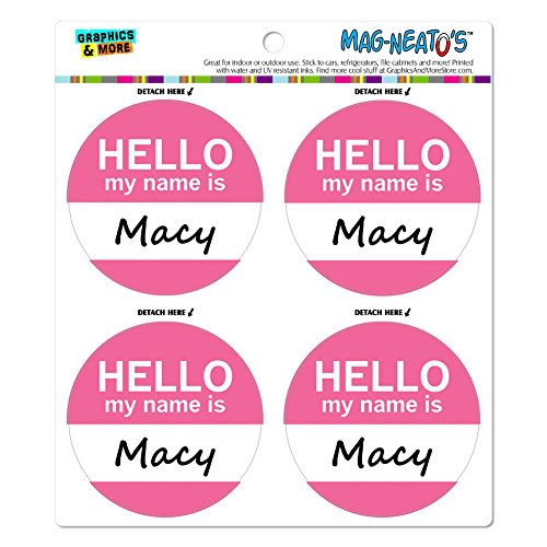 macy-hello-my-name-is-mag-neatostm-automotive-car-refrigerator-locker-vinyl-magnet-set