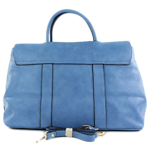 Damentasche Handtasche Tasche Tragetasche Damen Lederimitat Kunstleder LK2277 Blau