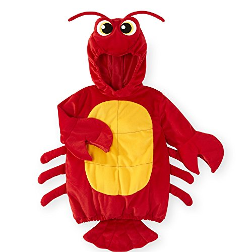 Hummer Lobster Koala Baby Fasching Halloween Karneval Kostüm Overall mit Hoodie (62-68)