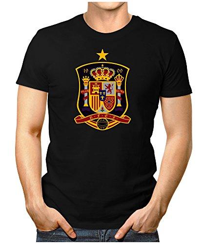 Prilano Herren Fun T-Shirt - Spanien-WM - L - Schwarz