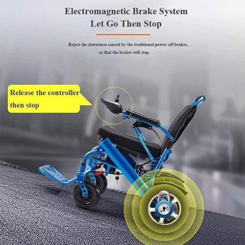 51pcPvEOfYL - Silla de ruedas eléctrica, nuevo control remoto plegable ligero y ligero Silla de ruedas eléctrica motorizada, Scooter de silla de ruedas eléctrica motorizada ligera plegable y de viaje 2019.
