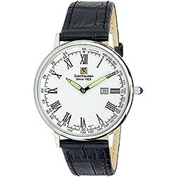 Reloj Steinhausen Altdorf Collection S0122 (acero inoxidable / correa de cuero negro / esfera blanca)