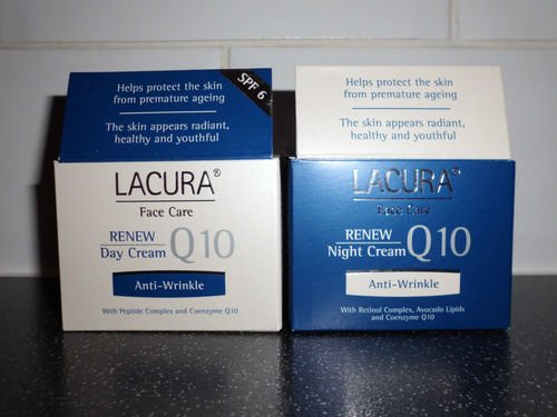 Lacura Q10 Moisturising renew face creams night + day Anti-wrinkle Anti-aging by Lacura