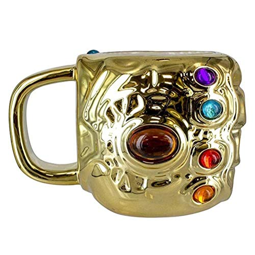 Unbekannt GLVV Kaffeetasse Thanos Tasse Marvel Avengers Infinite War Thanos Handschuh Tasse Geburtstagsgeschenk Keramik Tasse Sammlung Modell Ornamente Wasser Tasse A023