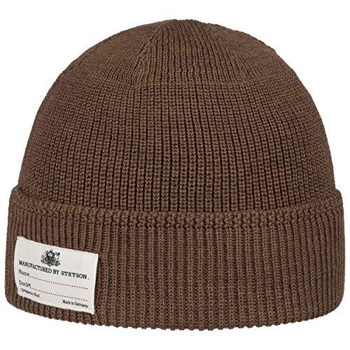 Stetson Bonnet a Revers Onalaska Homme - Made in Italy en Laine Beanie pour l'hiver avec Automne-Hiver
