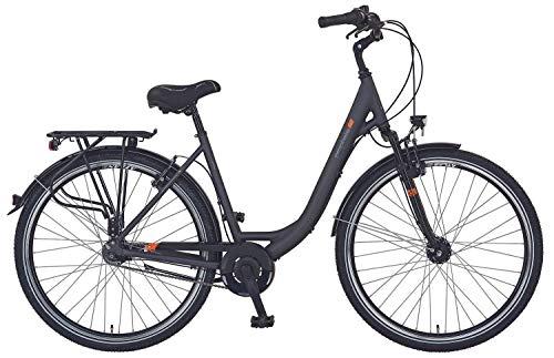 "Prophete Unisex- Erwachsene GENIESSER e9.3 City E-Bike 28\"" Elektrofahrrad, schwarz matt, RH 48 cm"