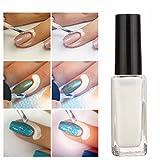 DANCINGNAIL 10ml Nail Art Forniture unghie gel Rifornimenti essenziali per unghie Nail chiodo Protezione liquido per edge di unghie Peel off Latex Bianco immagine