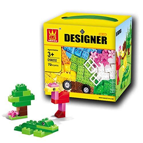 Hundehütte Kinder Puzzle Spiele, 72 Building Blocks Creative Assembly Park