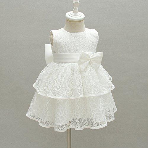 AHAHA Baby Mädchen Prinzessin Kleid Blumenmädchenkleid Taufkleid Festlich Kleid Hochzeit Partykleid Festzug Babybekleidung - 2